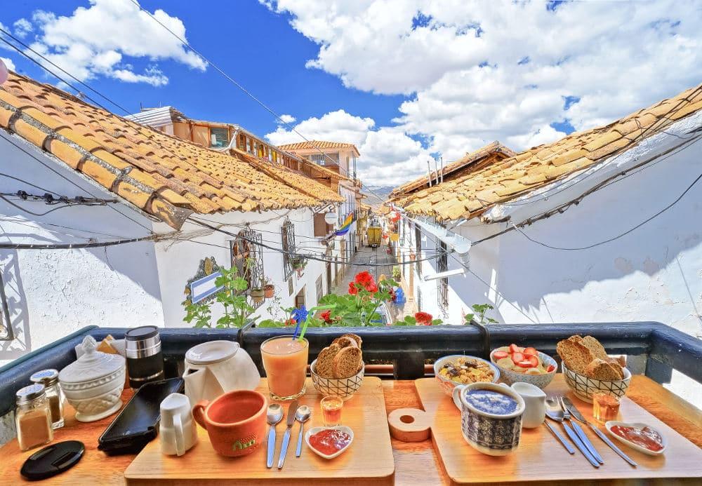 Uitzicht van hostel Cuzco