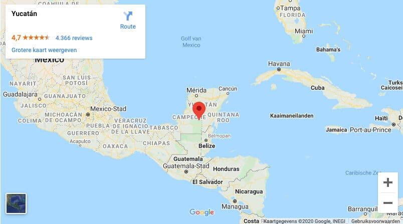 Locatie Yucatan Mexico