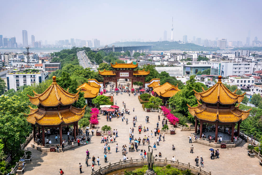 Yellow Crane Tower in Wuhan