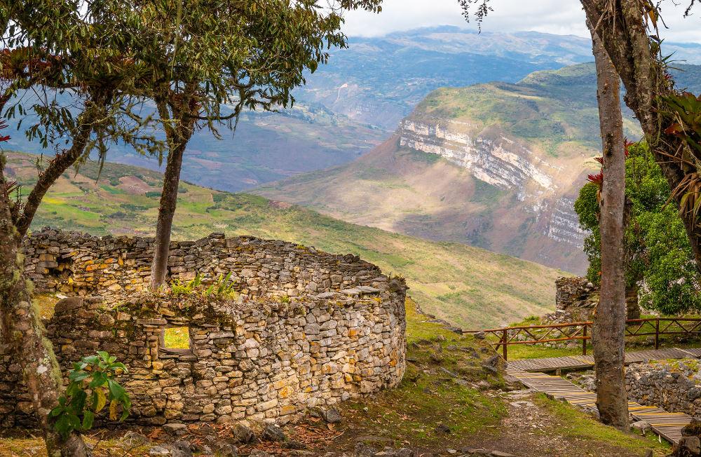 kuelap ruines in de Andes