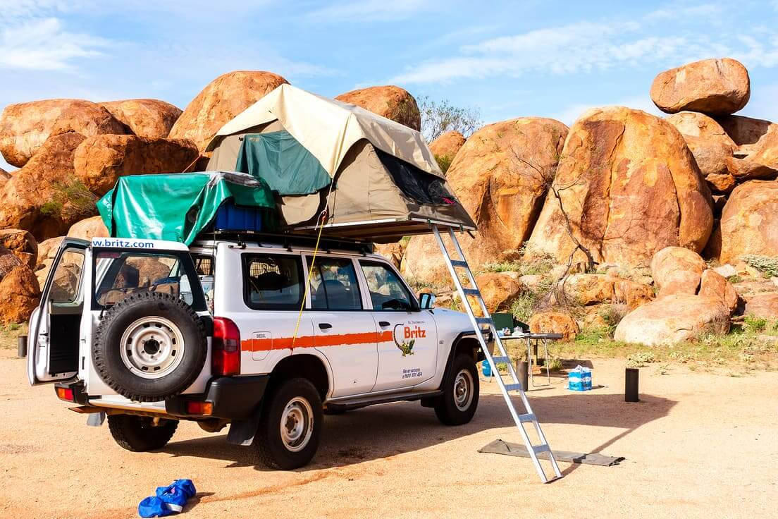 Auto camperen Australie