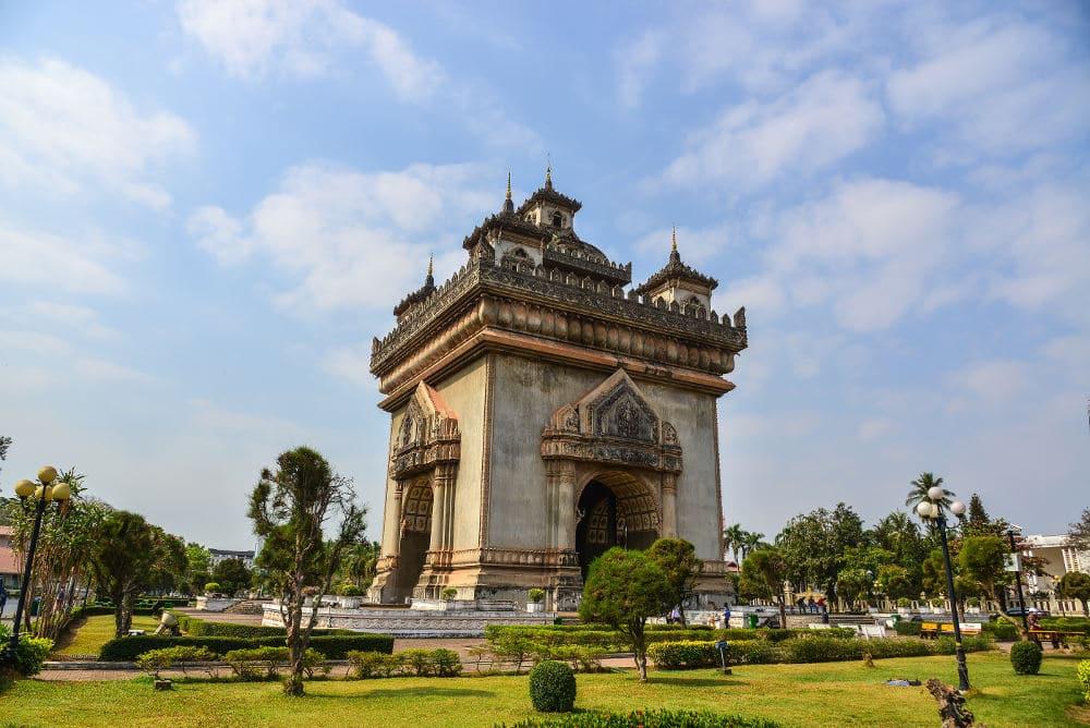 Route door Laos
