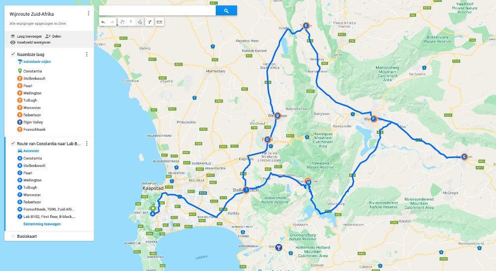 Wijnroute Zuid-Afrika