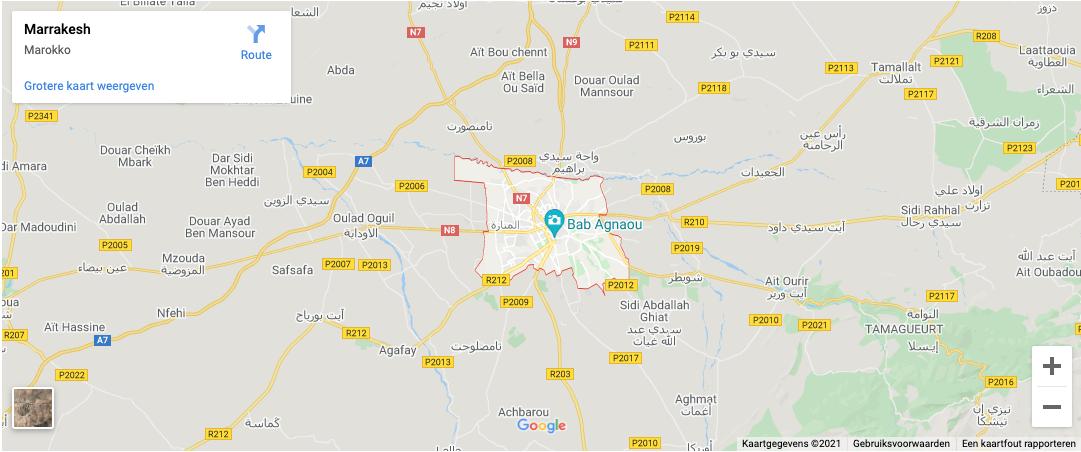 Lokatie Marrakech